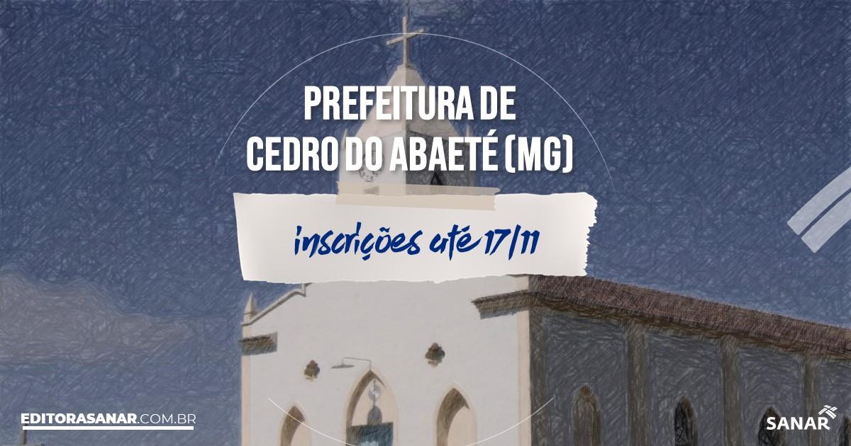 Concurso de Cedro do Abaeté - MG: vagas imediatas na Saúde!