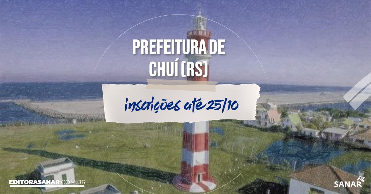 Concurso de Chuí - RS: vagas imediatas na Saúde!
