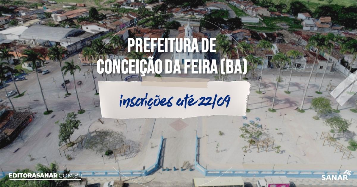 Concurso de Conceição da Feira - BA: vagas imediatas na Saúde!