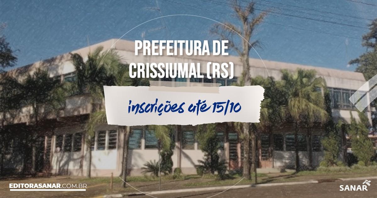 Concurso de Crissiumal - RS: vagas na Saúde!
