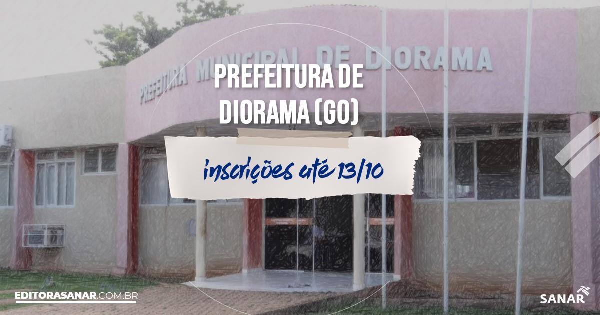 Concurso de Diorama - GO: vagas imediatas na Saúde!