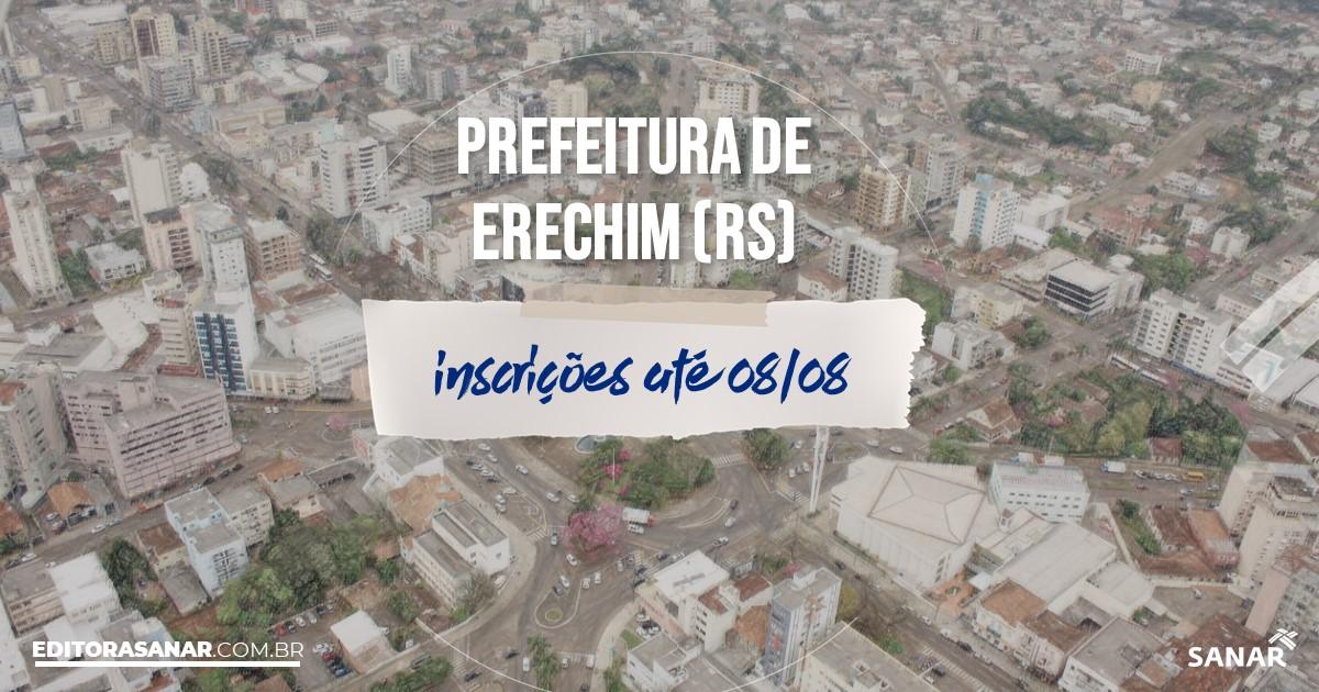 Concurso de Erechim - RS: salários de até R$16 mil na Saúde!