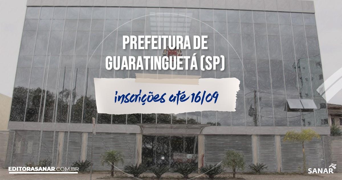 Concurso de Guaratinguetá - SP: vagas imediatas na Saúde!