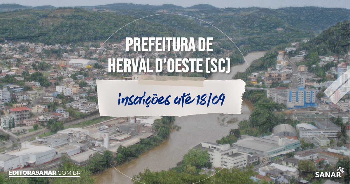 Concurso de Herval D'Oeste - SC: salários de até R$13 mil na Saúde!