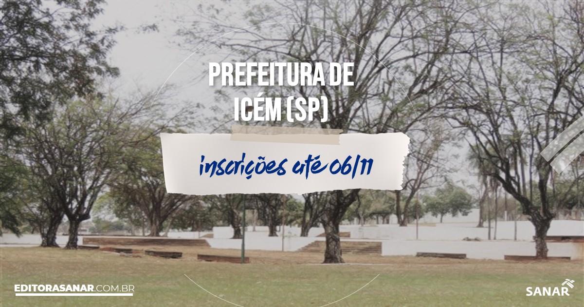 Concurso de Icém - SP: vagas imediatas na Saúde!