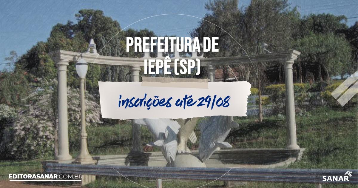 Concurso de Iepê - SP: salários na Saúde de até R$12 mil!