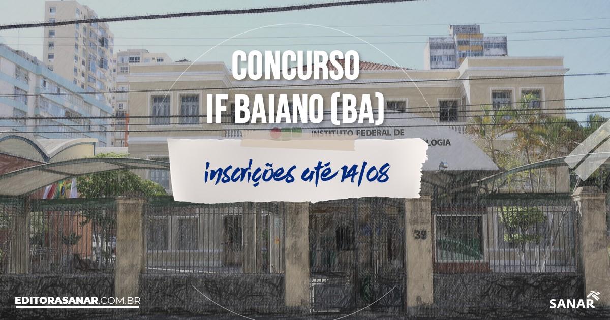 Concurso IF Baiano - BA: vaga na Saúde para dentista!