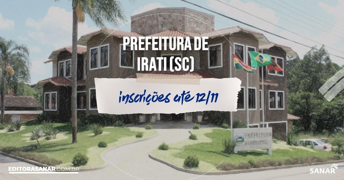 Concurso de Irati - SC: na Saúde, vagas para enfermeiros!