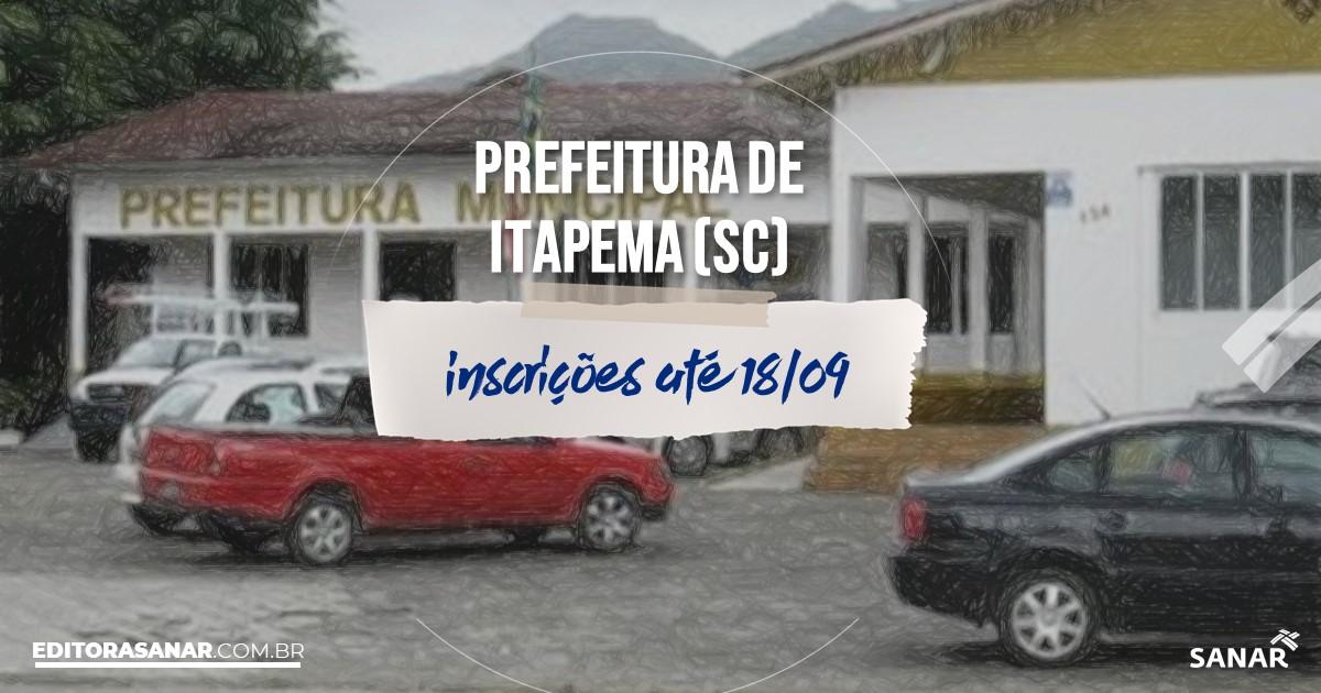 Concurso de Itapema - SC: vagas imediatas na Saúde!