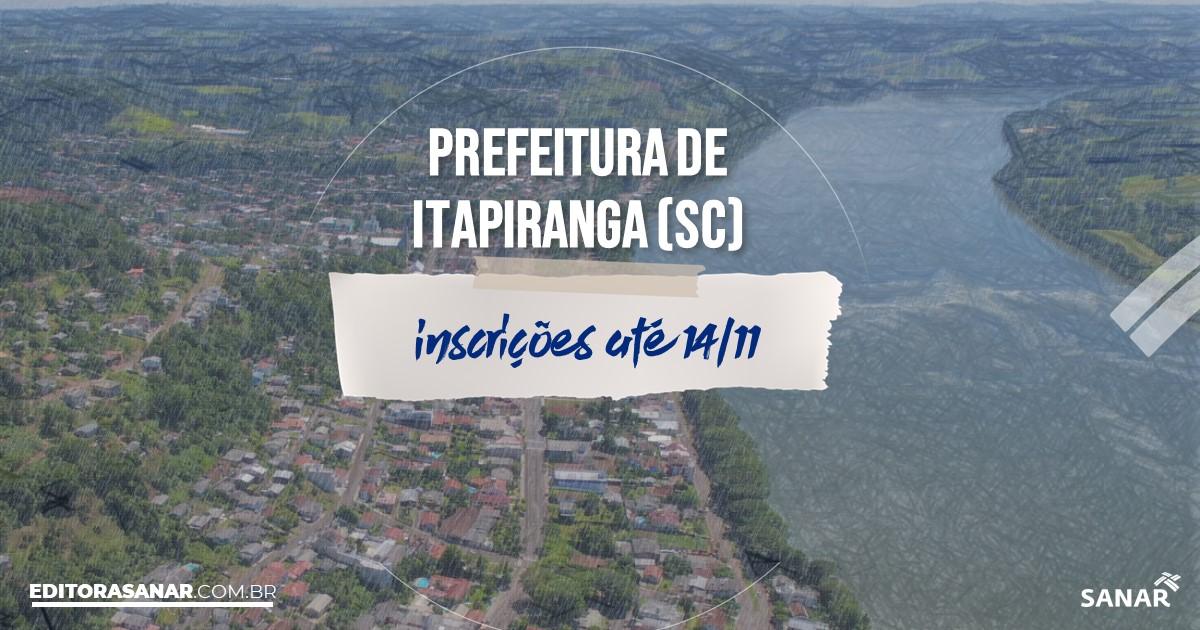 Concurso de Itapiranga - SC: cargos na Saúde!