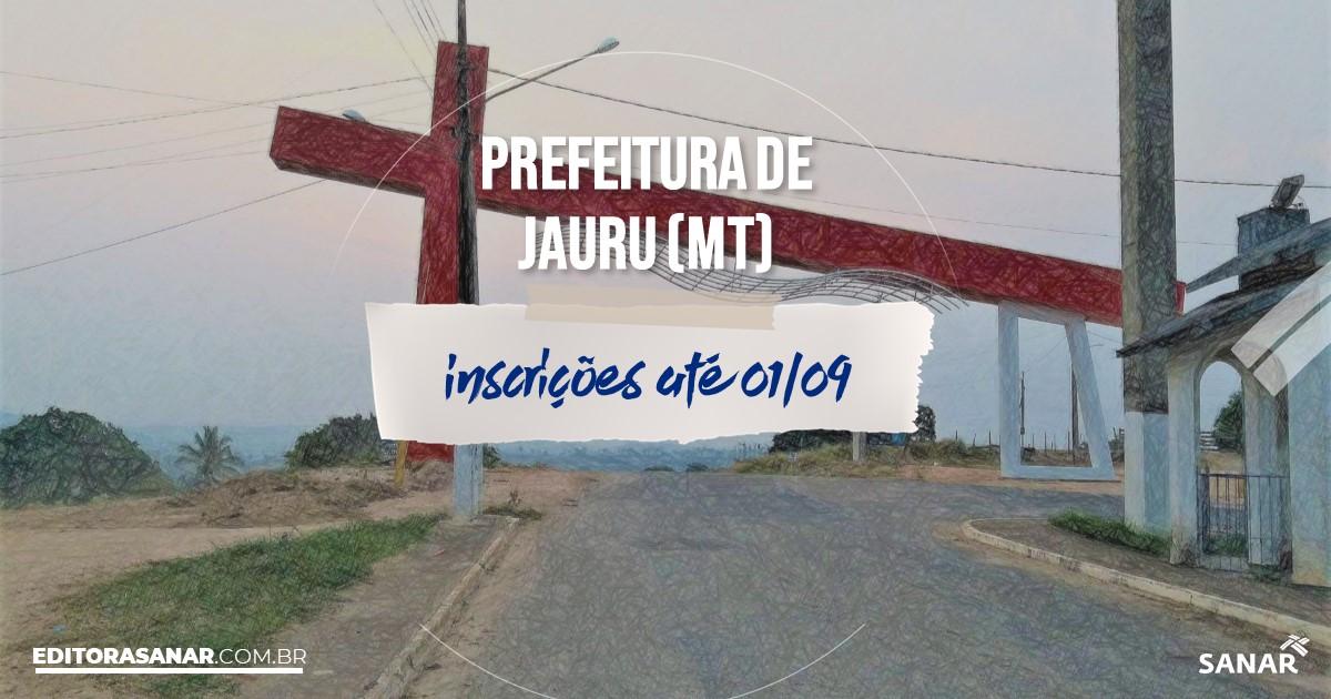 Concurso de Jauru - MT: cargos na Saúde de até R$17mil!