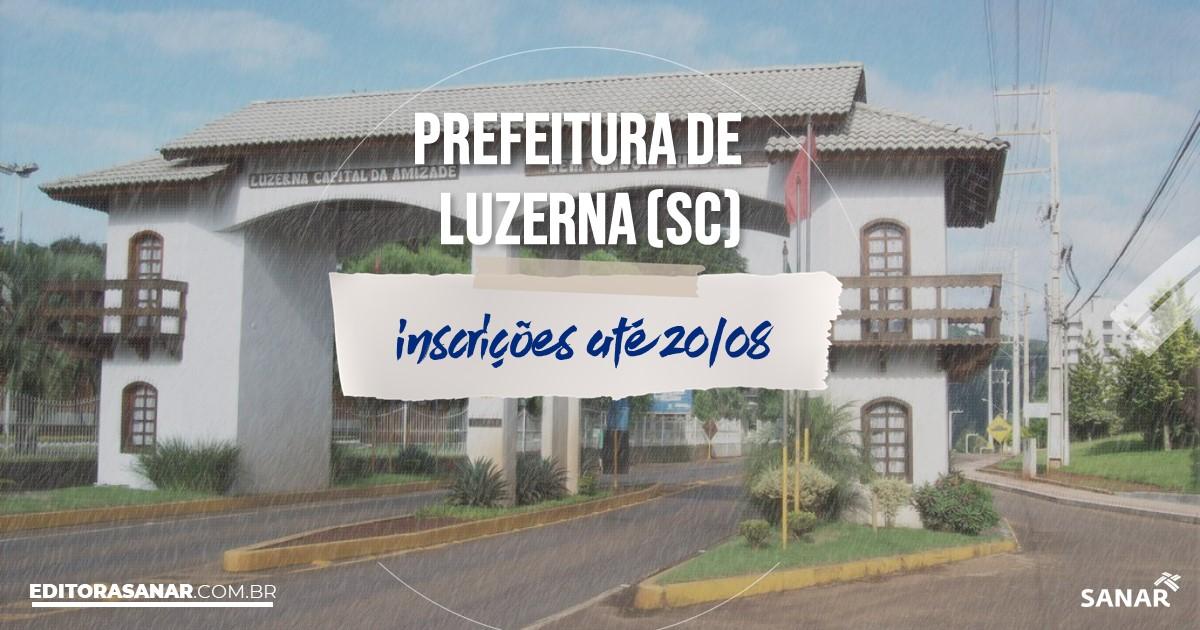 Concurso de Luzerna - SC: vagas de até R$16 mil na Saúde!