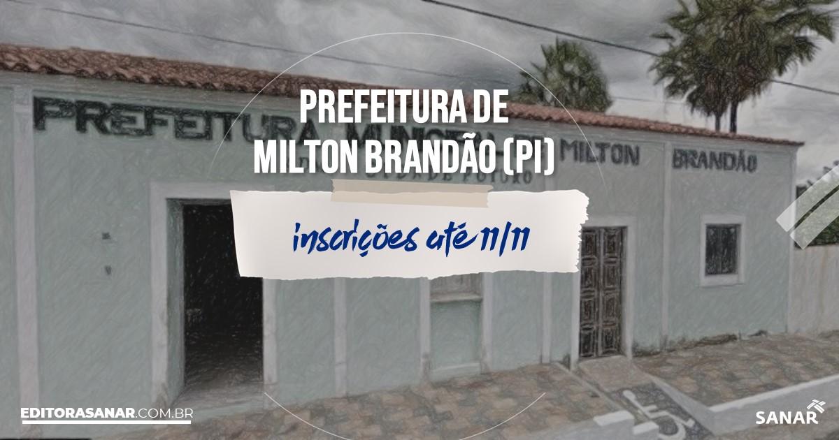 Concurso de Milton Brandão - PI: cargos na Saúde!
