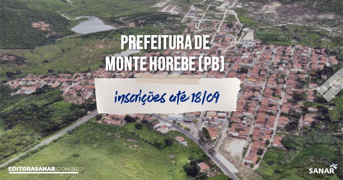 Concurso de Monte Horebe - PB: salários de até R$7,5 mil na Saúde !