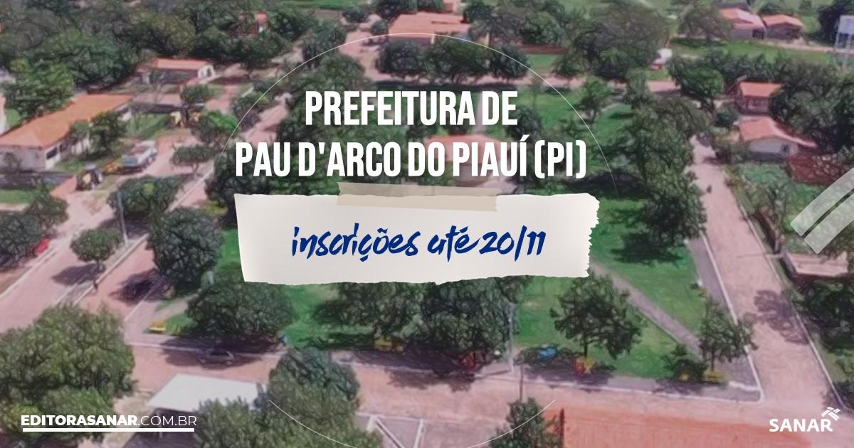 Concurso de Pau d'Arco do Piauí - PI: vagas na Saúde!