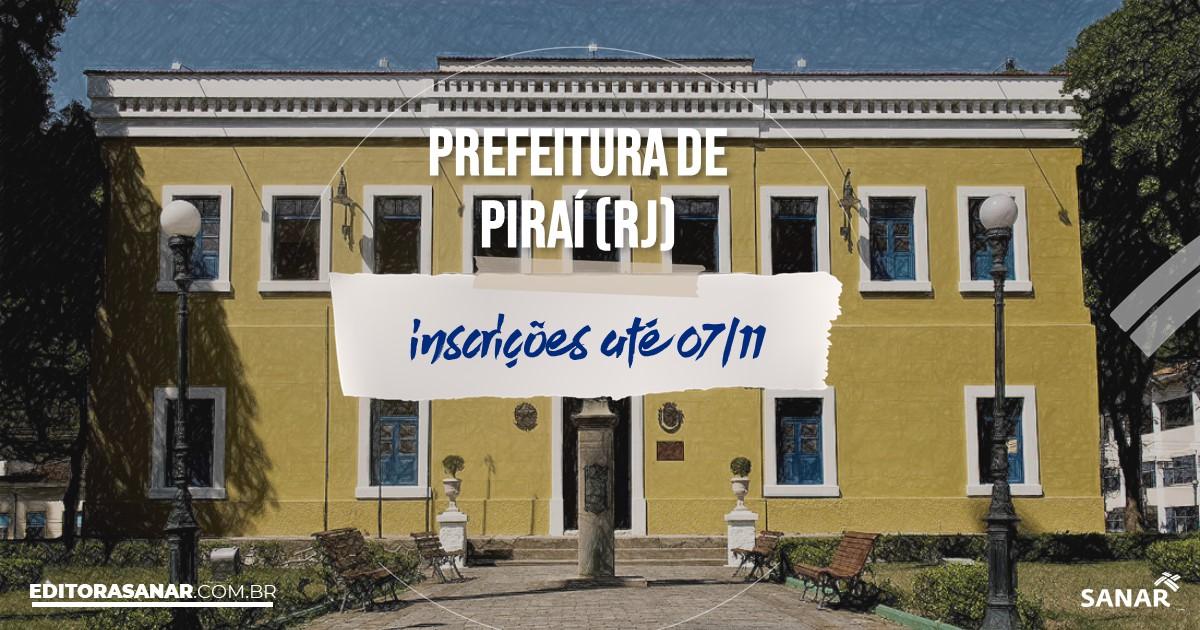 Concurso de Piraí - RJ: vagas na Saúde!