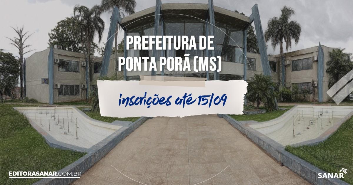 Concurso de Ponta Porã - MS: vagas imediatas na Saúde!