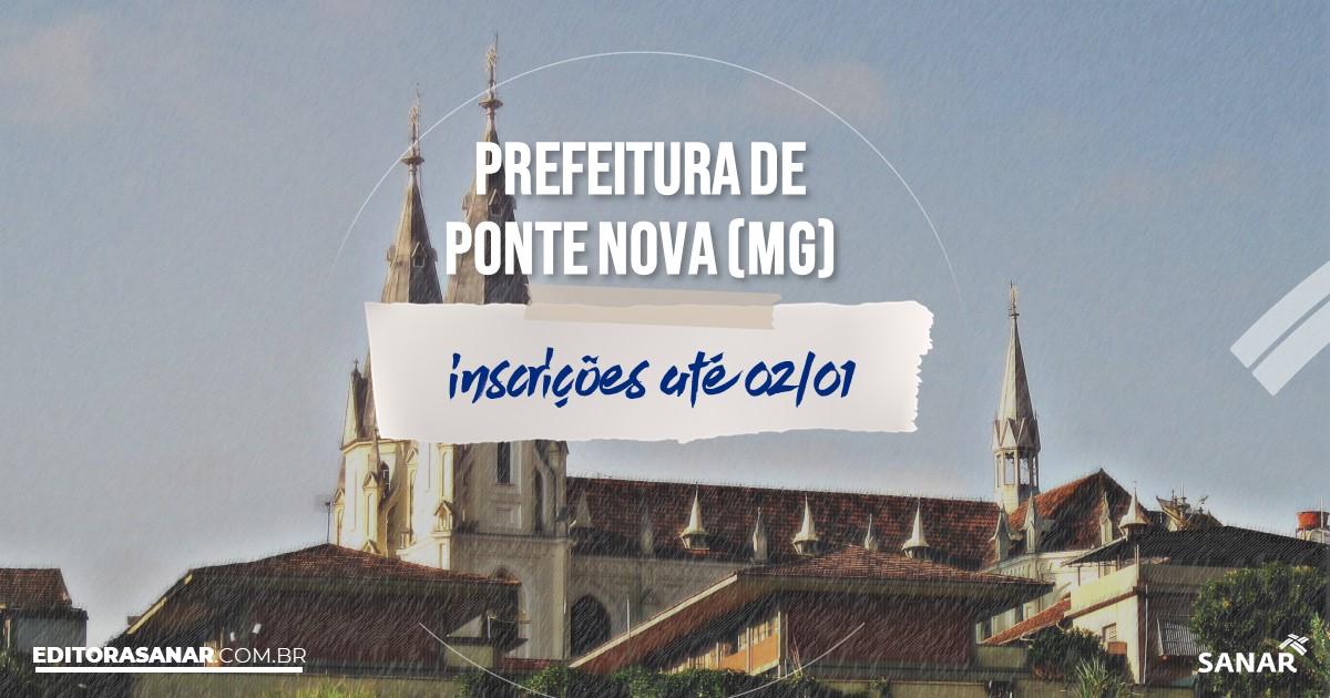 Concurso de Ponte Nova - MG: vagas na Saúde!