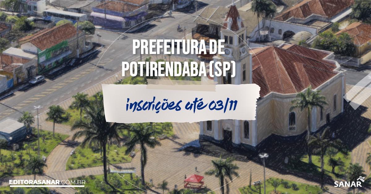Concurso de Potirendaba - SP: vagas na Saúde!