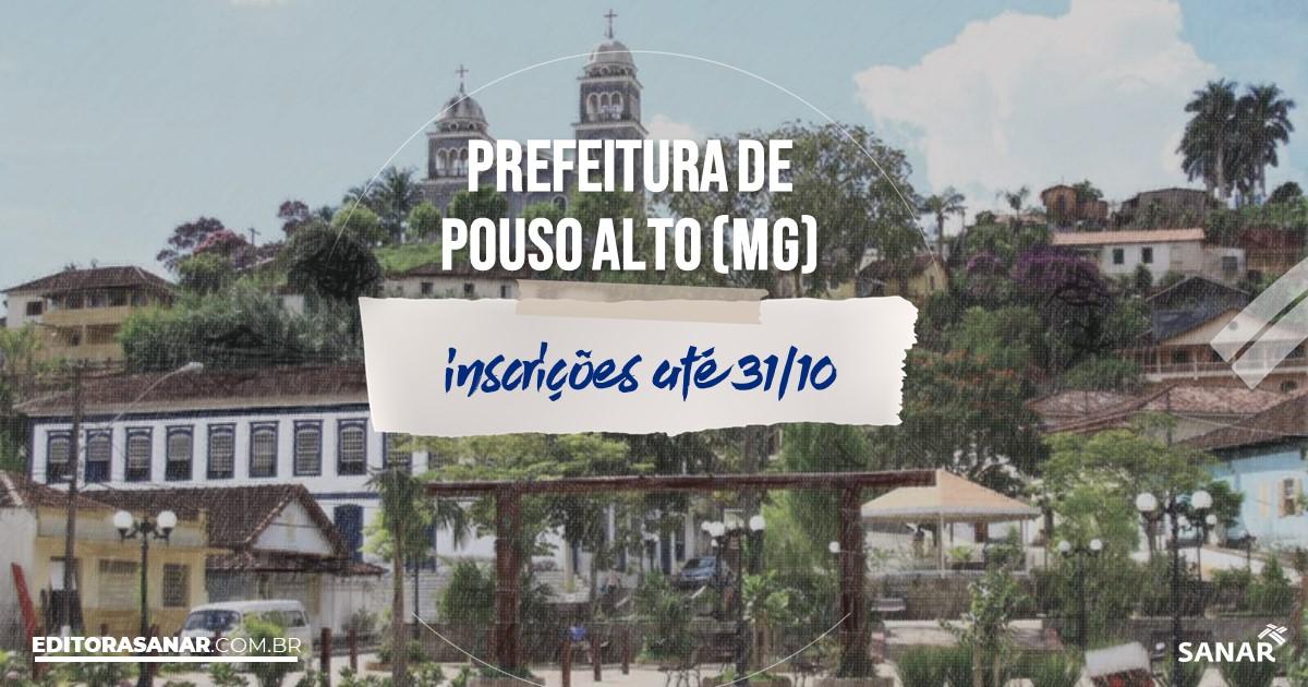 Concurso de Pouso Alto - MG: cargos na Saúde!