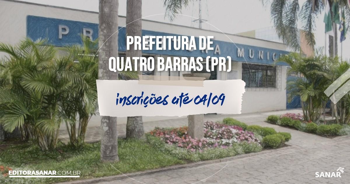 Concurso de Quatro Barras - PR: salários de até R$7mil na Saúde!