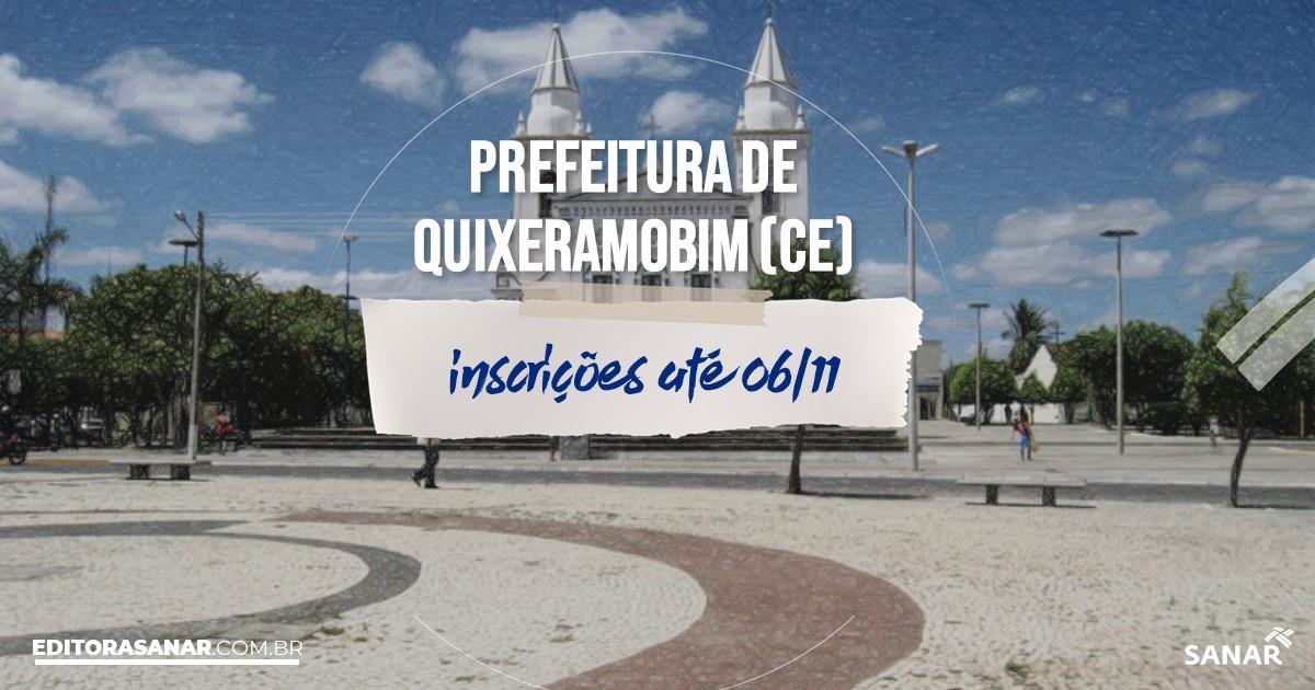 Concurso de Quixeramobim - CE: vagas imediatas na Saúde!