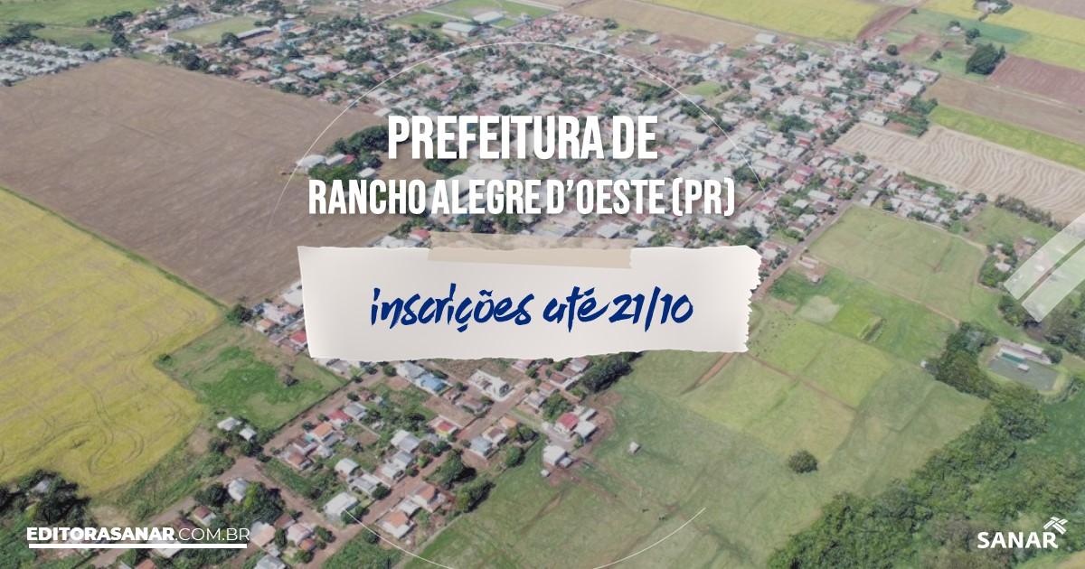 Concurso de Rancho Alegre DOeste - PR: vagas na Saúde!