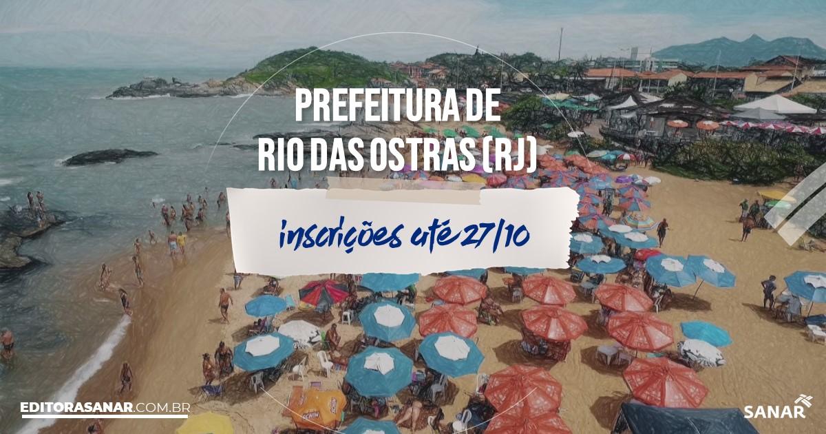 Concurso de Rio das Ostras - RJ: vagas imediatas na Saúde!
