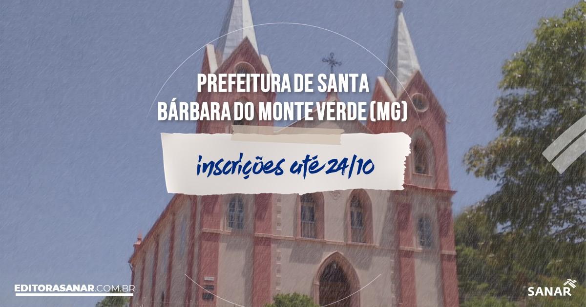 Concurso de Santa Bárbara do Monte Verde - MG: vagas na Saúde!