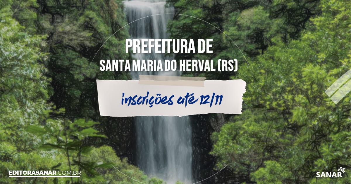 Concurso de Santa Maria do Herval - RS: vagas na Saúde!