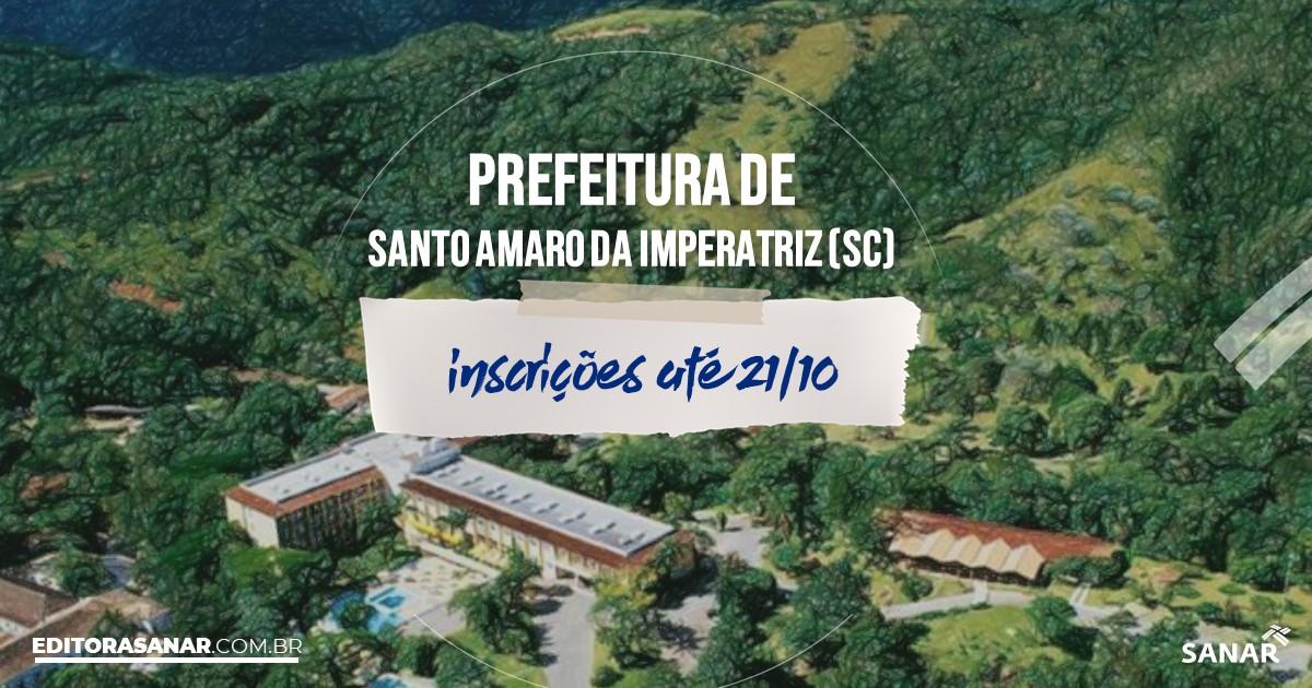 Concurso de Santo Amaro da Imperatriz - SC: vagas na Saúde até R$13 mil!