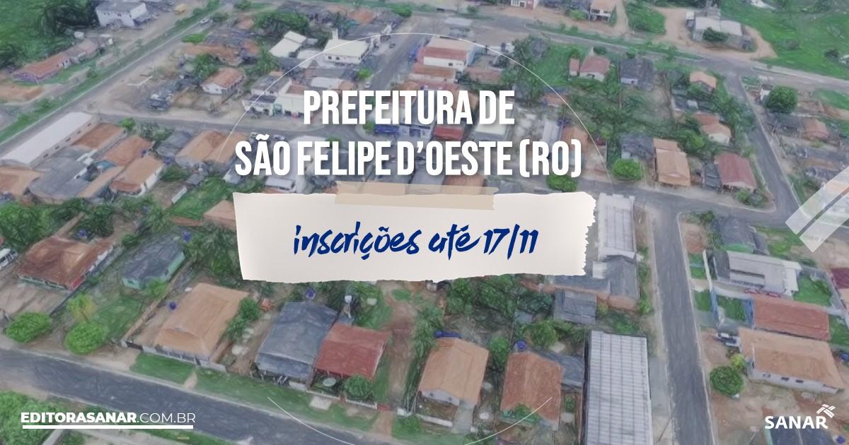 Concurso de São Felipe d'Oeste - RO: cargos na Saúde!
