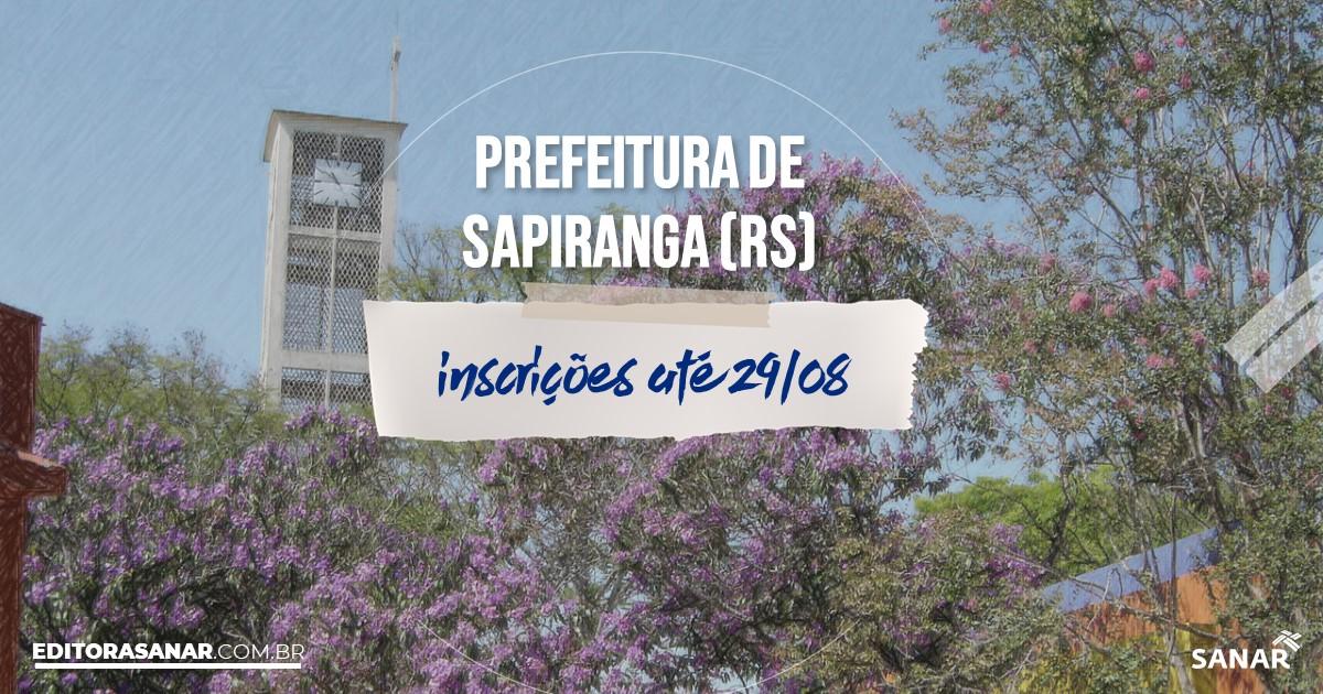 Concurso de Sapiranga - RS: salários de até R$11 mil na Saúde!