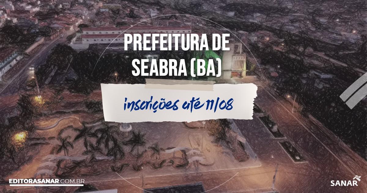 Concurso de Seabra - BA: vagas imediatas na área de Saúde!
