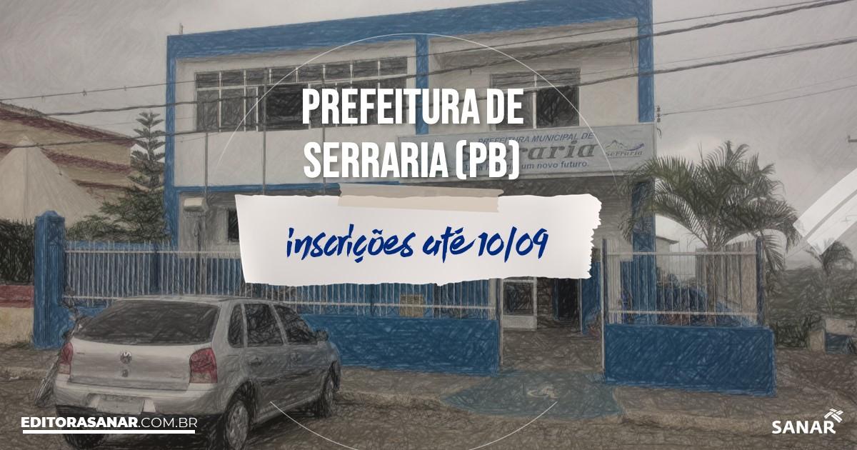Concurso de Serraria - PB: vagas imediatas na Saúde!