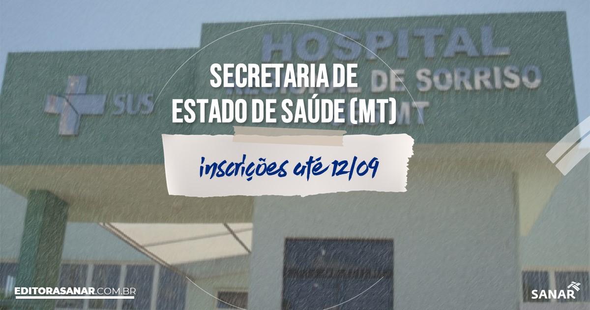 Concurso da SES - MT: salários até R$7 mil na Saúde!