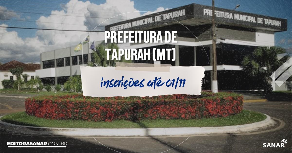 Concurso de Tapurah - MT: cargos na Saúde!