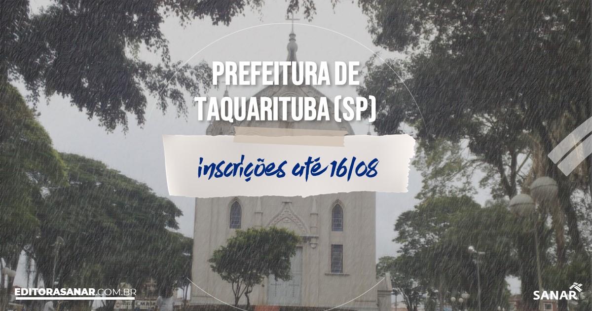 Concurso de Taquarituba - SP: vagas imediatas na Saúde!