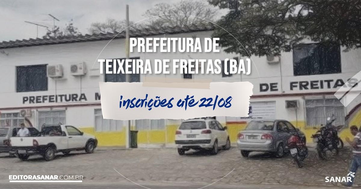Concurso de Teixeira de Freitas - BA: salários na Saúde de até R$10 mil!