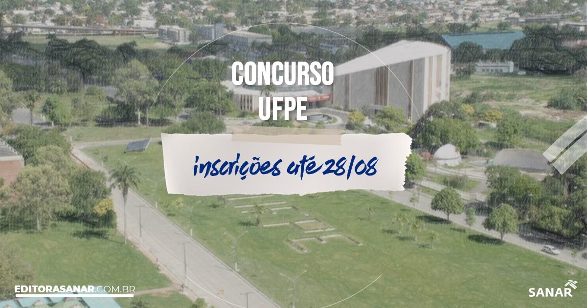 Concurso da UFPE - PE: vagas imediatas na Saúde!