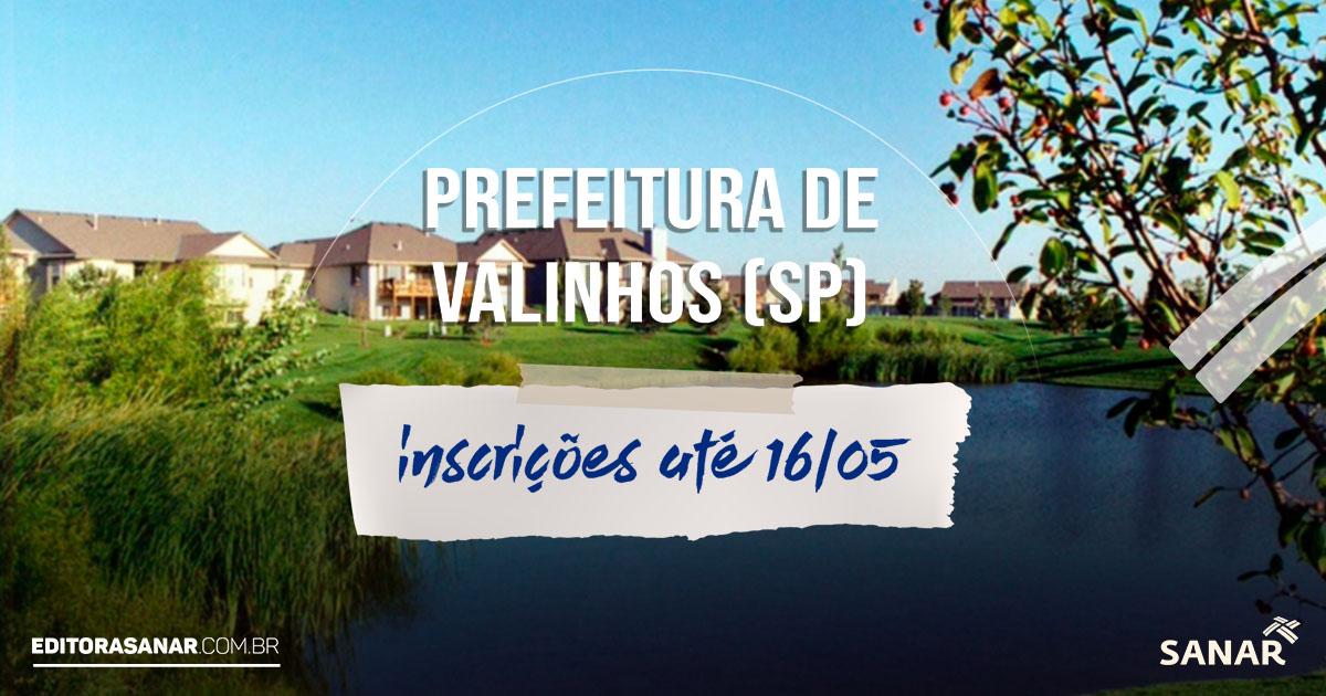 Concurso da Prefeitura de Valinhos - SP: 15 vagas na área da Saúde!