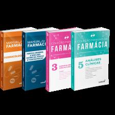 Coleção Manuais de Farmácia para Concursos e Residências (Volumes 1, 3, 4 e 5)