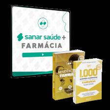 Sanar Saúde + Farmácia (12 meses de assinatura com Preparatório para Residências e 1.000 Questões)