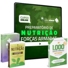 Preparatório Online para Concursos de Forças Armadas em Nutrição 2020 (Com 3 Livros Bônus)