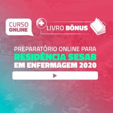 Preparatório Online para Residência SESAB em Enfermagem 2020 (Com Livro Bônus)