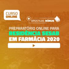 Preparatório Online para Residência SESAB em Farmácia 2020 (Com Livro Bônus)