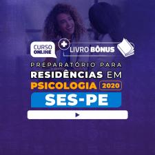 Preparatório Online para Residência SES-PE em Psicologia 2020 + Livro BÔNUS