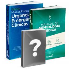 Casal Crânio - Manual de Semiologia Médica +Manual Prático para Urgências e Emergências Clínicas + Livro Surpresa