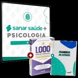 Sanar Saúde + Psicologia (12 meses de assinatura com Planner e 1.000 Questões Bônus)