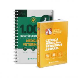 Combo Preparatório Provas e Concursos - Medicina Veterinária Pequenos Animais (Teórico + Prático) - Clínica Médica + 1.000 Questões